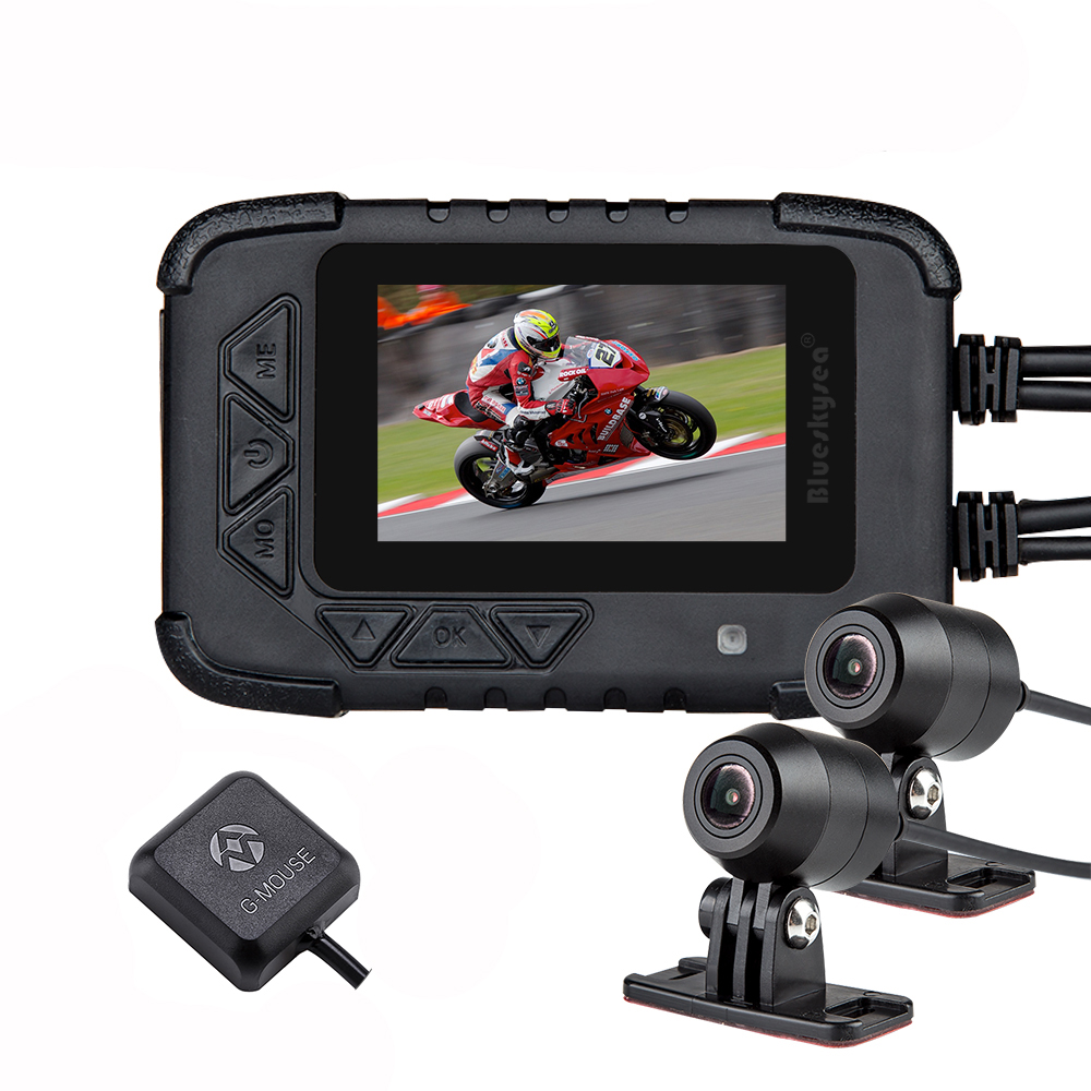 Blueskysea double 1080 P moto DVR Action caméra enregistreur Vision nocturne DV688 étanche moto Dash Cam moto Kamera