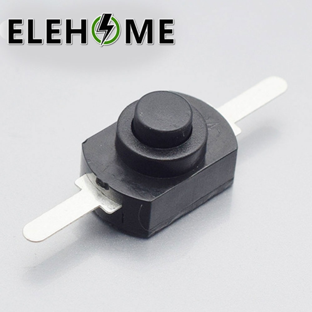 10PCS 1208YD Flashlight Switch <font><b>12</b></font>*8MM <font><b>DC</b></font> <font><b>30V</b></font> 1A Black On Off Mini Push Button Switch for Electric Torch XF30 image