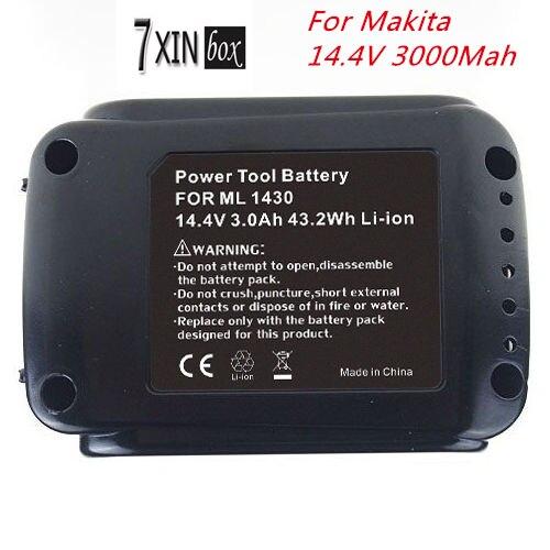 14 4v 3000mAh Li ion battery for Makita BL1430 194065 3 194066 1 BDF343 BDA341 BGA450Z