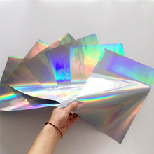 Myfoils 50 sheets A4 silver holographic  hot stamping foil for paper by laser printer laminating