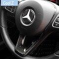 Автомобильный Стайлинг из углеродного волокна интерьерная наклейка на руль эмблема наклейка для Mercedes C Class W204 W205 W211 W203 GLA