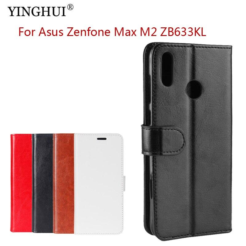 For Asus Zenfone Max M2 ZB633KL Case Flip Wallet PU Leather For Asus Zenfone Max M2 ZB633KL High Quality Book Stand Card Slot