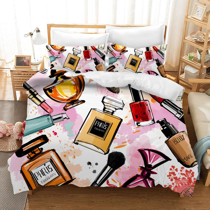 Digital Printing Series Duvet Cover Pillowcace Bedding Quilt Blanket Comforter Cover Single Double Queen King Customized #/j-in Bedding Sets from Home & Garden