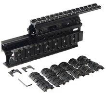 K47 74 AKS Универсальный Quad Said Rail mount Handguard Quad Side Rail w 12 шт. рельсы крышка страйкбол винтовка Охота Стрельба Caza