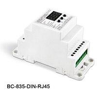 BC 835 DIN RJ45 DC12 24V input 5A*5CH output, 5CH Constant voltage PWM DMX512/1990 Decoder controller for led strip light lamp