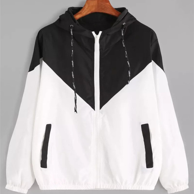 Fashion 2021 Autumn Quick Dry Women's Jackets Coats Windbreaker Sun Protection Patchwork Color Zipper Thin Summer Women Clothing 4