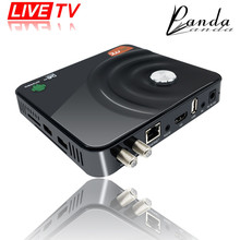 GOTiT Y1 Android DVB-S2 Decodificador de Satélite con 1 Año 580 + LIVETV Francés Árabe IPTV Smart Digital DVB S2 Receptor Caja de la TV