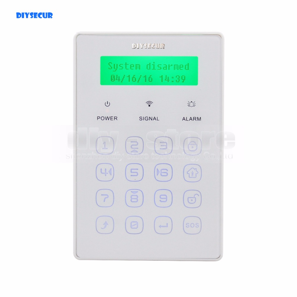 DIYSECUR Wireless Touch Password Keypad 433Mhz for Our Related Home Alarm Home Security System wireless smoke fire detector for wireless for touch keypad panel wifi gsm home security burglar voice alarm system