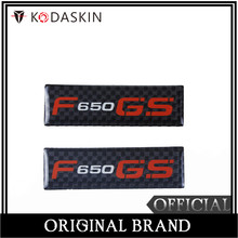 KODASKIN Motorcycle 3D Carbon Timing Belt Cover Front and Rear Round Decal for BMW F650GS