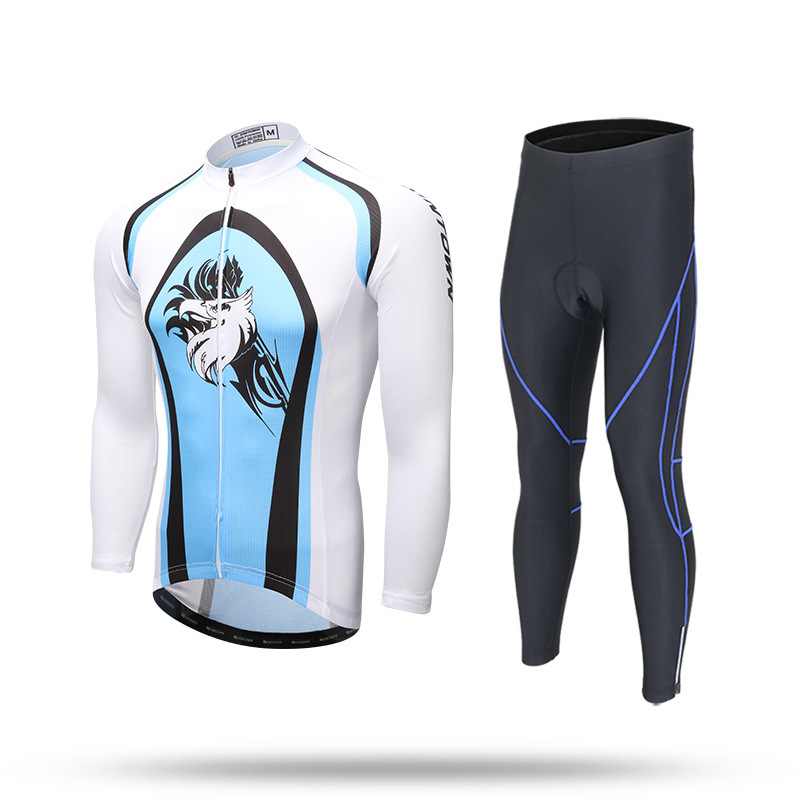 XINTOWN Cycling Blue Cycling Jersey Set Pro Team Long Sleeve Bike Clothing Roupas Para Ciclismo Mujer Spring Bicycle Clothes veobike winter thermal brand pro team cycling jersey set long sleeve bicycle bike cloth cycle pantalones ropa ciclismo invierno