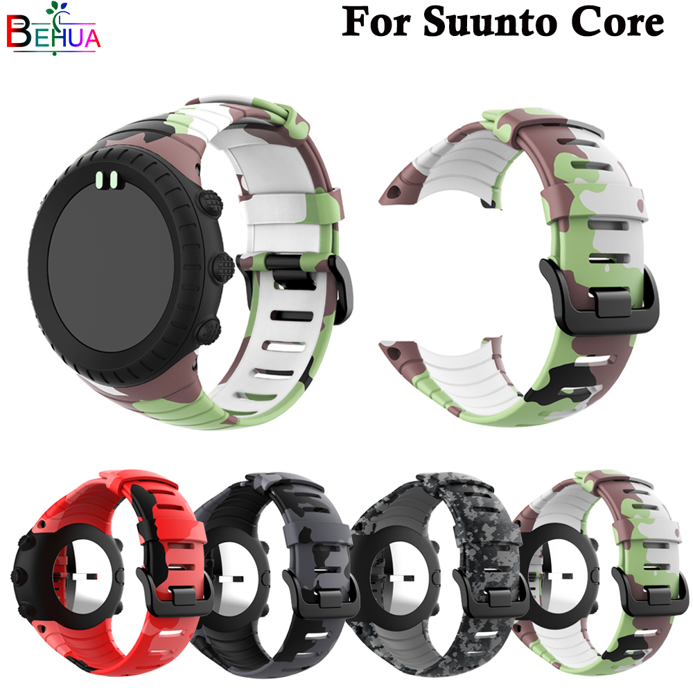 High Quality Brand New Sport Strap For Suunto Core Smart Watch Replace Silicone Wristband Fashion Watch Band Luxury Accessories