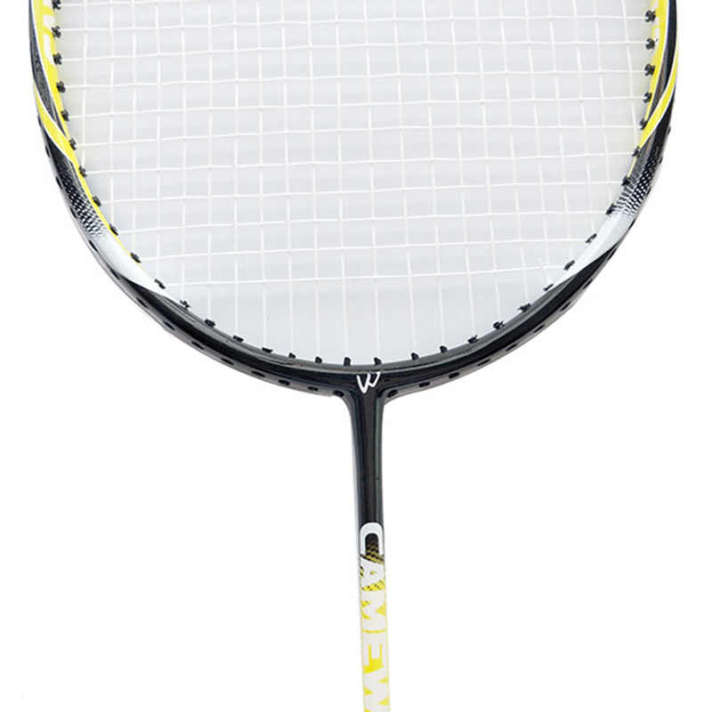 1 Pair Professional Carbon Aluminum Badminton Racket With Bag CAMEWIN Brand High Quality Badminton Racquet Yellow Black