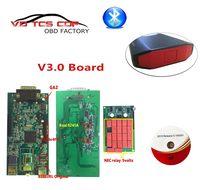 Placa PCB V3.0 VD TCS CDP Pro plus 2015.R3/2016R0 con Keygen verde, herramienta de diagnóstico con Bluetooth, novedad