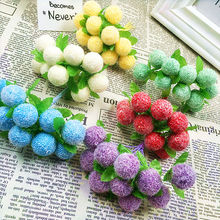 ФОТО 10 pcs (10 cm/beam) simulation of artificial flower bouquets of lint ball bubble/home decoration christmas wedding diy products