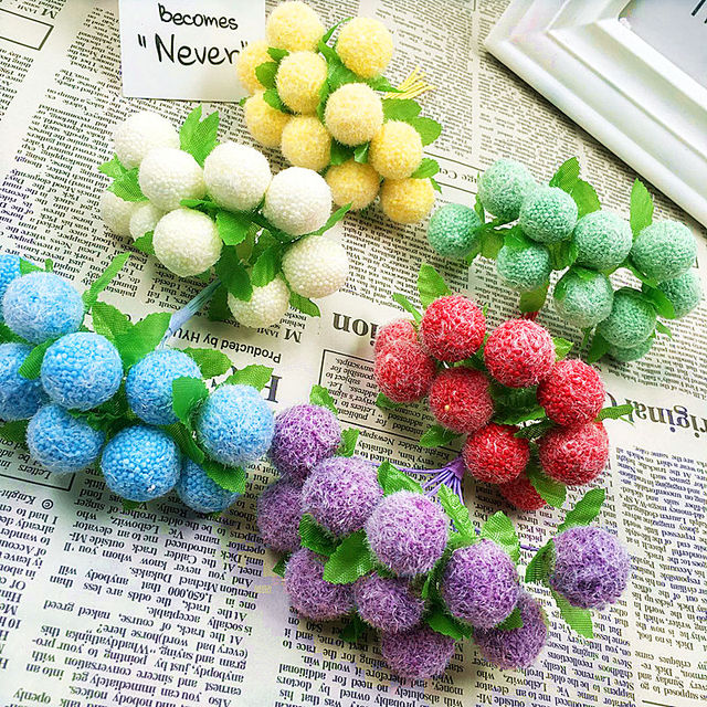 10 PCS (10 cm/beam) simulation of artificial flower bouquets of lint ball bubble/home decoration Christmas wedding DIY products