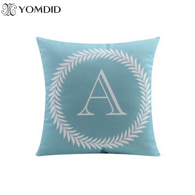 26 letters cushions decorative pillow  almofada Colorful  pillow  Linen Cotton Throw Pillow Cushion for Car Sofa Home Decor