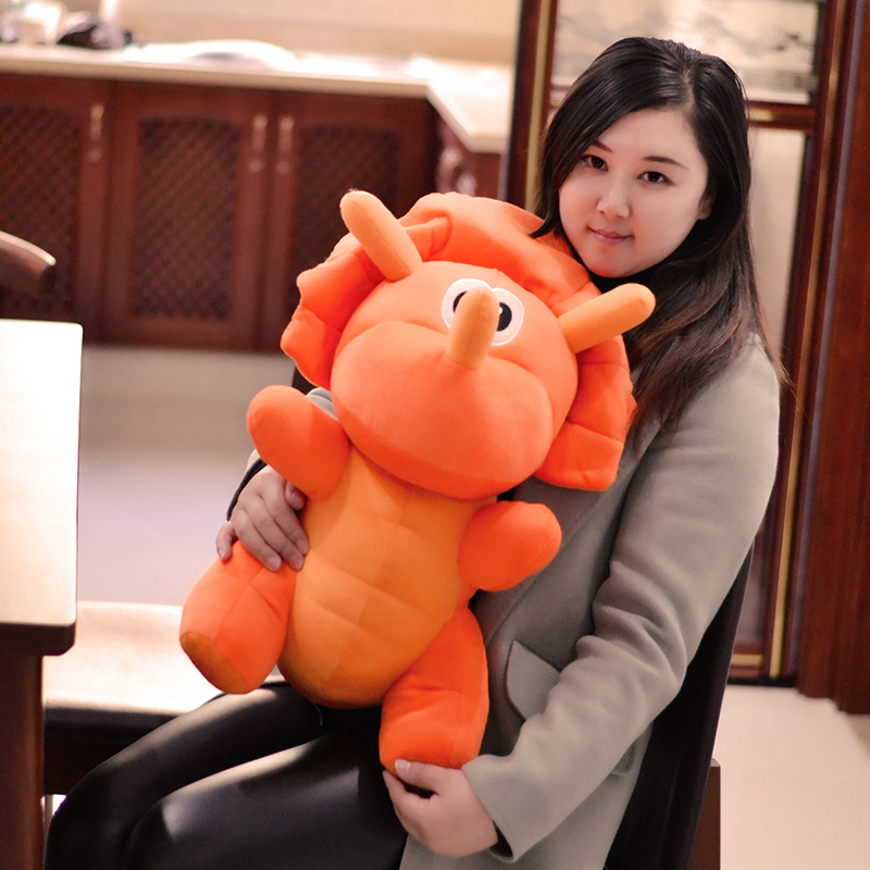 big new plush Triceratops dinosaurs toy orange cartoon dinosaur doll gift about 65cm the huge lovely hippo toy plush doll cartoon hippo doll gift toy about 160cm pink