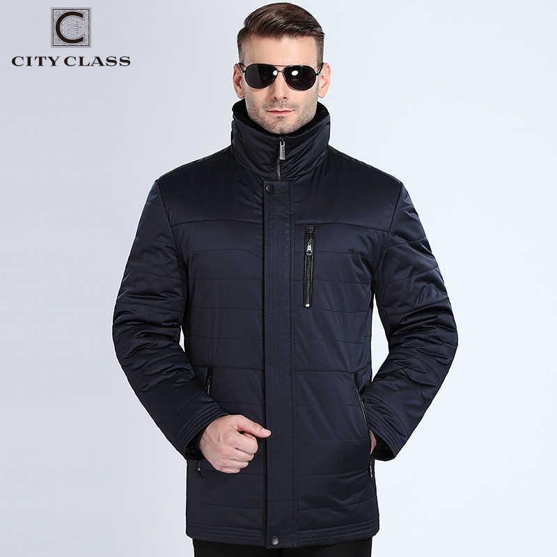 City Class 2018 новые модные мужские зимние пальто мутон меховой воротник верблюжья шерсти наполнитель теплые парки Бизнес повседневные куртки парка Топ casacos 16805