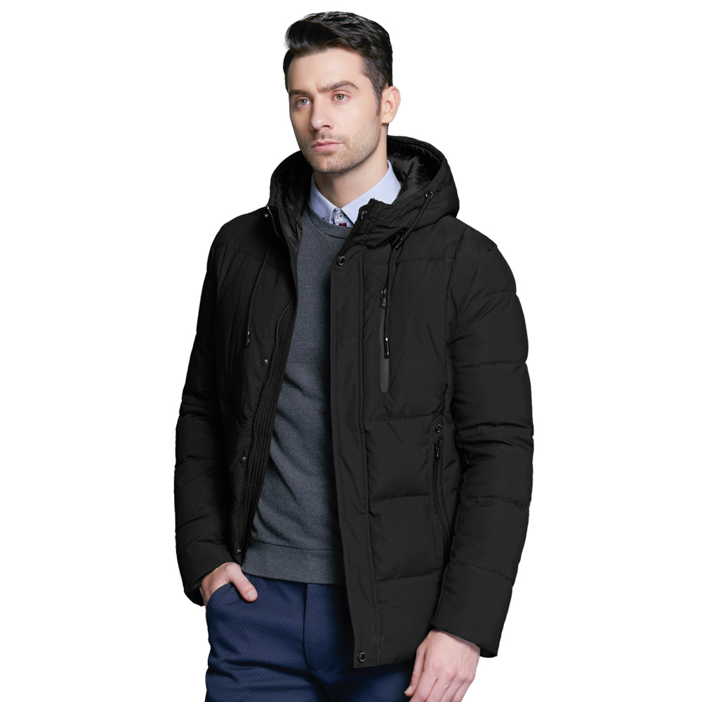 ICEbear 2018 new winter men's jacket simple fashion hooded coat knit cuff design male's thermal fashion brand parkas MWD18926D autumn and winter with cashmere sweater fashion women thickened hooded jacket coat long loose maternity dress