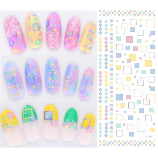 ROSALIND DIY переводная вода ногти художественная Наклейка Красочные фиолетовые Фэнтези Цветы наклейки на ногти фольга стикер маникюр