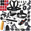 Gopro Accessories Floating Bobber Tripod stick Monopod Hand Head Chest Strap Adapter Set For Go pro Hero 4 3+ 2 1 xiaomi yi