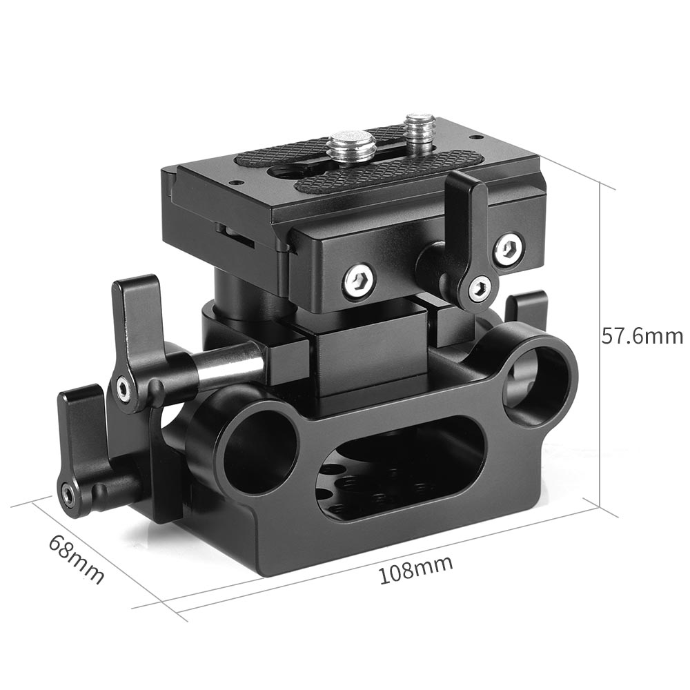 Image 3 - SmallRig DSLR Camera Plate Clamp Bracket Universal 15mm Rail Support System With Quick Release Arca Plate High Adjustable 2272-in Tripod Monopods from Consumer Electronics