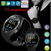 Новая мода Y1 поддержка смарт-часы sim-карты и карты памяти с WhatsApp и Facebook и Twitter приложение SmartWatch pk Gt08 Q18 Dz09