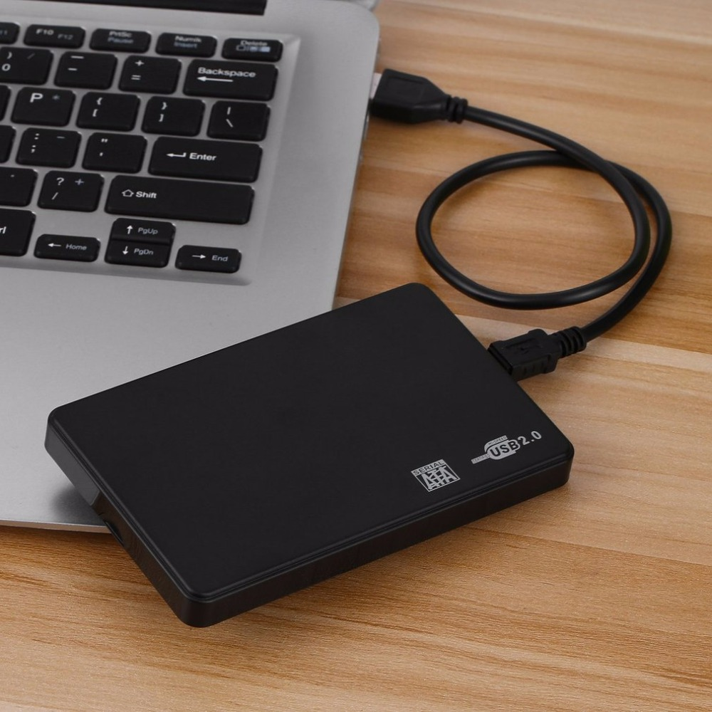 2.5 Inch USB HDD Case Sata to USB 2.0 Hard Drive Disk SATA External Enclosure HDD Hard Drive Box With USB Cable e sata esata e sata male to male m m extension data sync cable line for external portable hard drive hdd 50cm