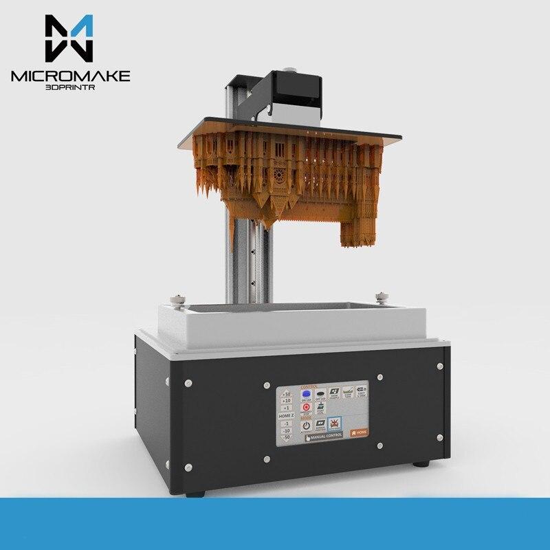 Micromake L4 UV light curing SLA/LCD/DLP 2K 3d printer print volume 190*120*225mm 24um accuracy for Jewelry dentistry phontn цена