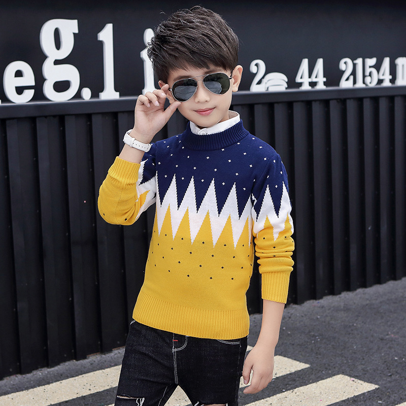 Winter Cotton products  Boys clothing O-Neck pullover Sweater winter Keep warm Kids clothes children's clothing 4