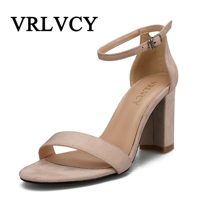 Ankle Strap Heels Women Sandals Summer Shoes Women Open Toe Chunky High Heels Party Dress Sandals Big Size covibesco nude high heels sandals women ankle strap summer dress shoes woman open toe sandals sexy prom wedding shoes large size