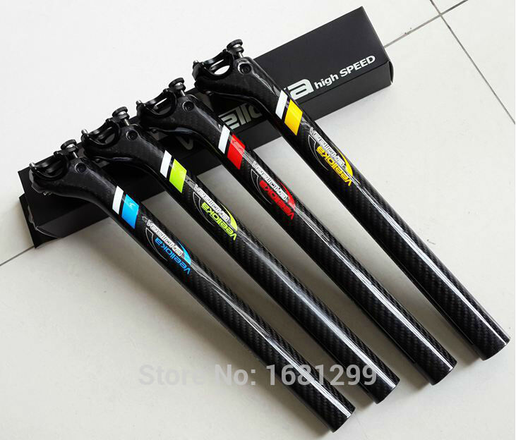 ФОТО Newest VEETOKA Road bicycle 3K carbon seatpost MTB / mountain carbon bike seatposts 27.2/30.8/31.6*350mm Free shipping