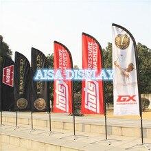Бесплатная доставка Оптовая продажа на заказ перо флаг и флаг полюс с базой наружная реклама флаг баннеры дешевые пляжный рекламный флаг