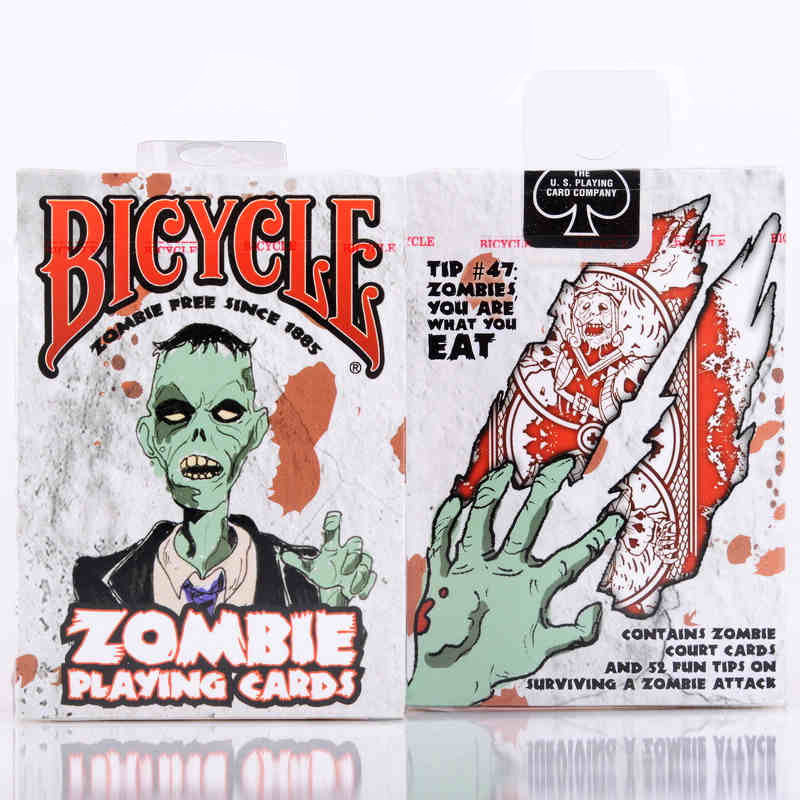 Zombies Poker Bicycle Playing Cards Sealed New Zombie Edition Card Magic Tricks Collection Card Game
