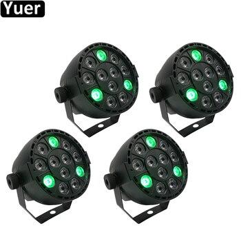 4Pcs/Lot Stage Light 12x3W Flat LED Par RGBW DMX512 Disco Lamp KTV Bar Backlight Laser Beam Projector Dmx Controller Spotlights