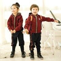 Kindergarten children fall and winter garden clothes school student uniforms Hoodies new suit custom uniforms pupils