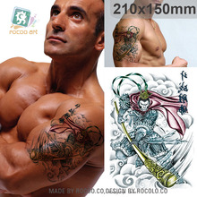 Waterproof film with a Sun Wukong tattoo tattoo big flower pattern can be customized LC2862 wholesale arm