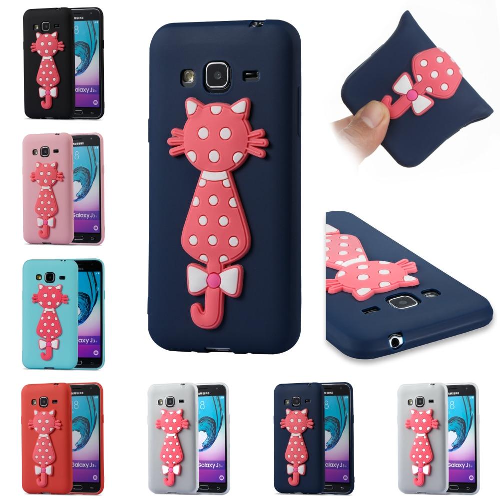 Cartoon Cute Silicone Soft Cover Cubierta Kryty Shell For Samsug Sumsung Samsung Galax J3 2016 J 310
