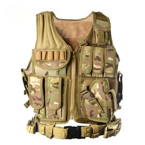 Image 3 - Zuoxiangru פריקה טקטי גברים Combat Vest טקטי צבא צבאי אוהדי הסוואה אפוד גוף Cs ג ונגל ציוד