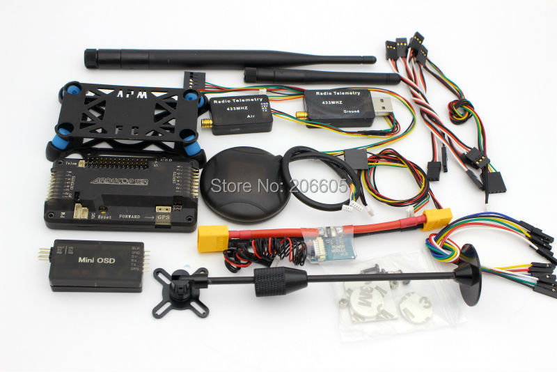 Regolatore di Volo UAV APM APM2.6 ArduPilot 2.6 + 6 M GPS w/Compass + Modulo di Potenza + 915 mhz 3dr Telemetria