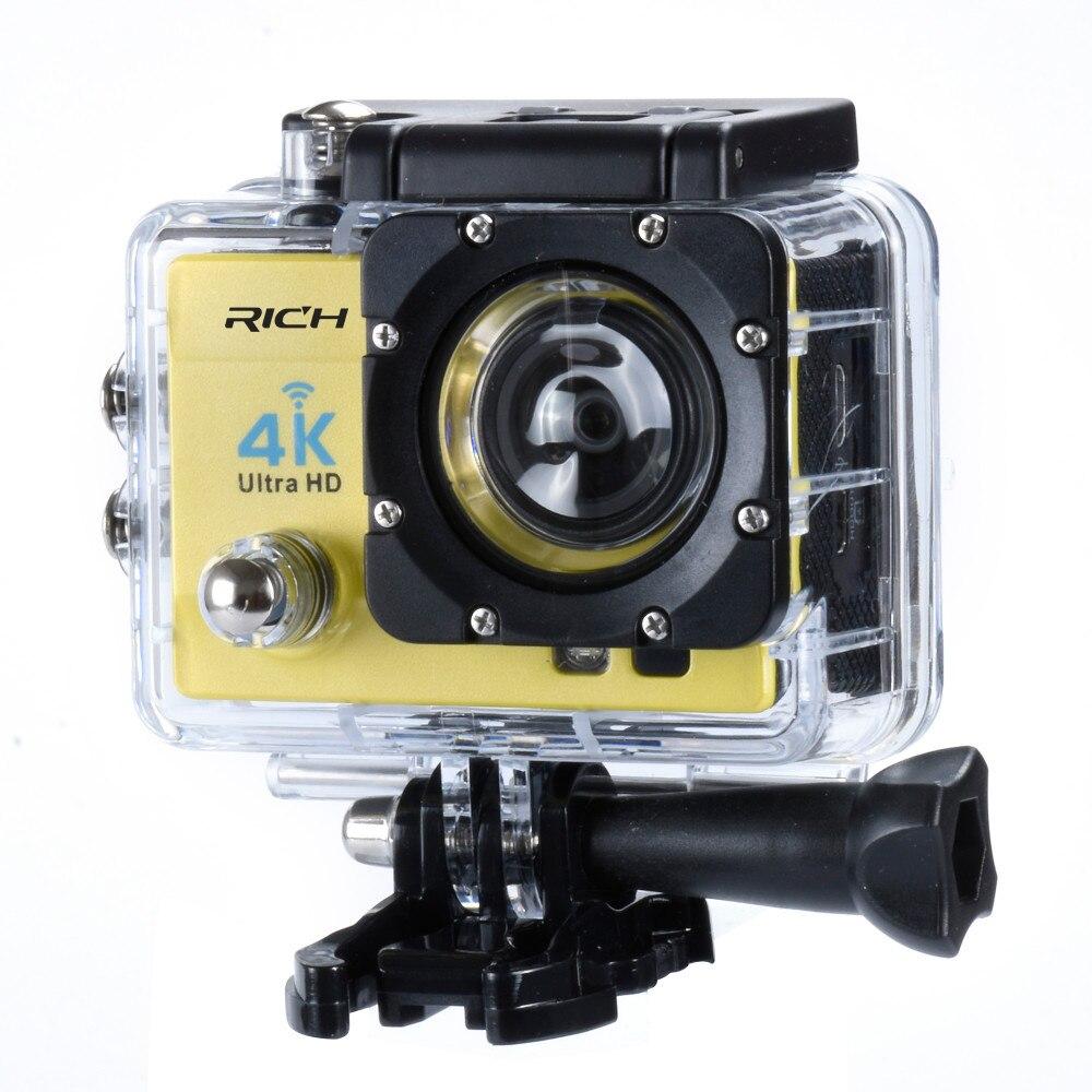 Caméra d'action 4 K Ultra HD WIFI gopro hero 4 Stlye 1080 P/30fps 2.0 LCD 170 Lentille Plongée Étanche 30 M DV Casque Cam Caméra De Sport - 2