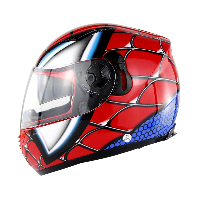 Racing Iron-ManFull Face Motorcycle Helmet Winter Spider Men Double Lens Casco Motorbike Casque Nenki 830 2017 new yohe full face motorcycle helmet yh 970 double lens motorbike helmets made of abs and pc lens with speed color 4 size