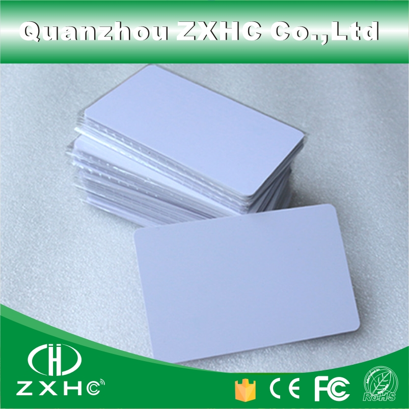 (100pcs) 85.5mmx54mmx0.8mm NFC Tag Ntag216 888 Bytes ISO14443A PVC White Cards For Android,IOS NFC Phones