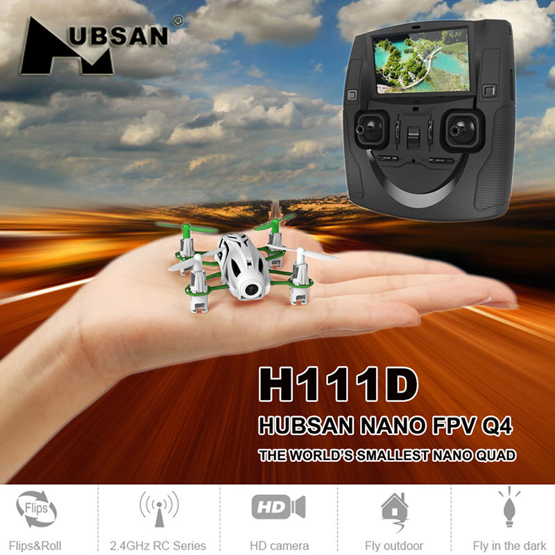 Hubsan H111D Q4 Nano FPV Mini Quadcopter Drone with 480P HD Camera 2.4GHz RC HD Helicopter RTF Remote Control Toys Black jjr c jjrc h43wh h43 selfie elfie wifi fpv with hd camera altitude hold headless mode foldable arm rc quadcopter drone h37 mini