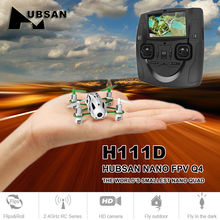 Hubsan H111D Q4 Nano FPV Mini Quadcopter Drone with 480P HD Camera 2.4GHz RC HD Helicopter RTF Remote Control Toys Black