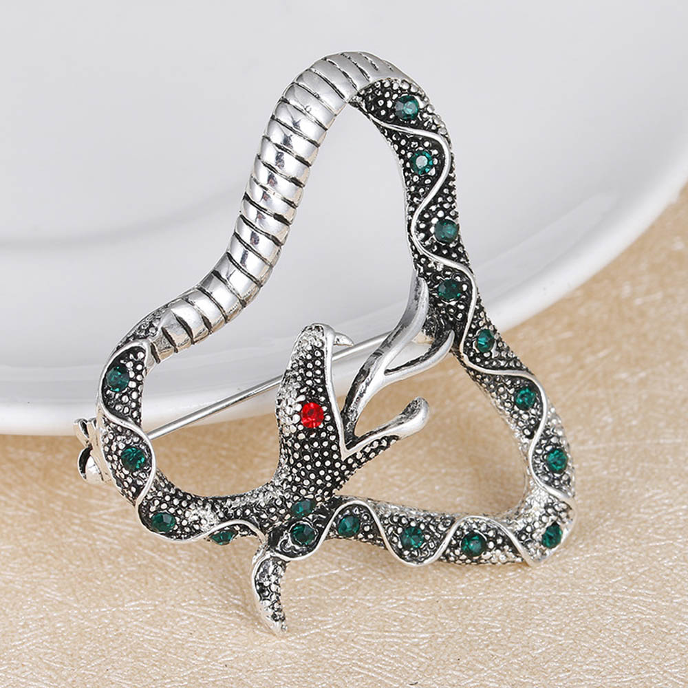 JUJIE Luxury Crystal Snake Brosches For Women 2017 Rhinestone Python - Κοσμήματα μόδας - Φωτογραφία 2