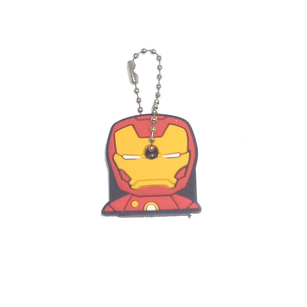1 шт. милые аниме Мультяшные крышки для ключей силиконовые с Микки стичем медведь брелок женский подарок сова Porte Clef Minne брелок