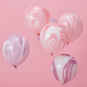Image 4 - Kuchang 12pcs 10inch Marble Agate Rainbow Round Latex Balloon Wedding Decor Birthday Party baby shower Supplies
