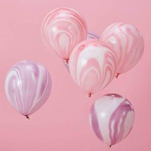 Image 4 - Kuchang Globo de látex redondo decoración para boda cumpleaños, fiesta, suministros de baño para bebé, ágata de mármol de 10 pulgadas, Arco Iris, 12 Uds.