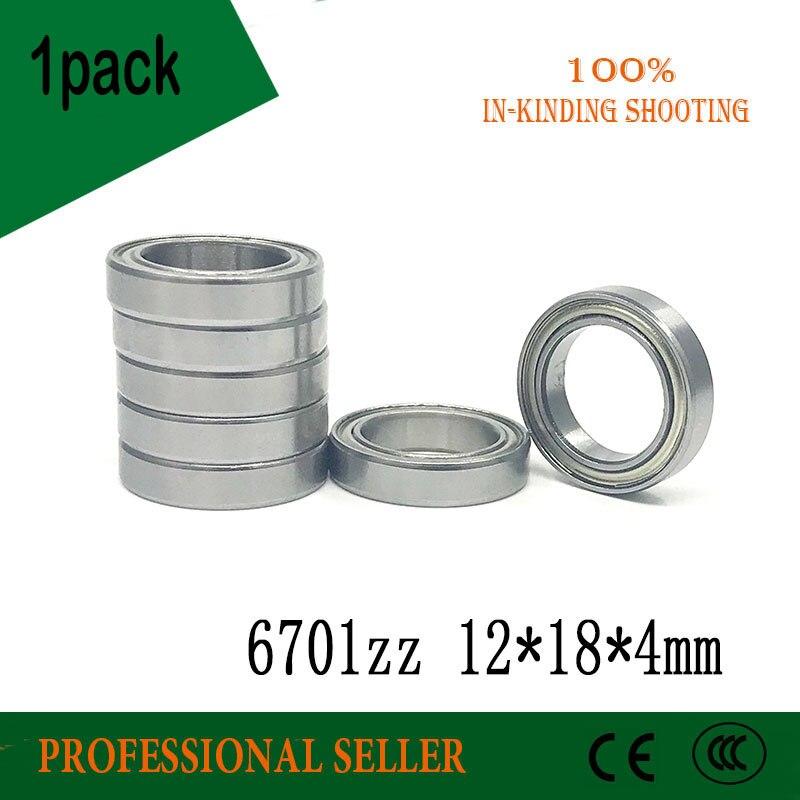 6701ZZ Bearing  12x18x4 Mm Thin Wall Section 6701 ZZ Ball Bearings 61701ZZ 6701Z